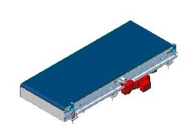 Przenośnik z taśmą modułową